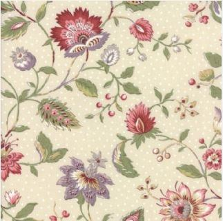 Jardin de Versailles Floral on Cream 13810 12