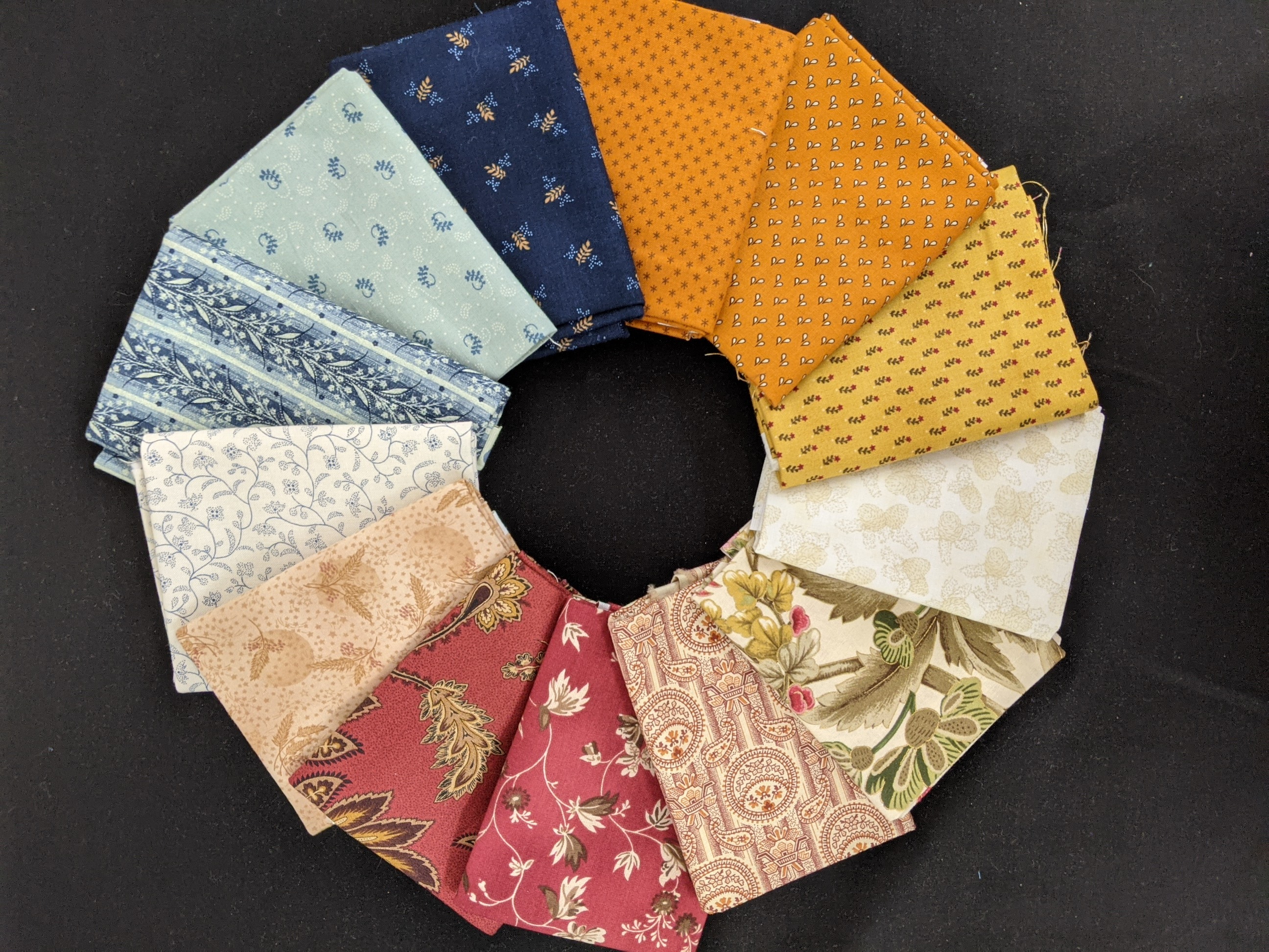 Common Colors - 1800 mid century reproductions Fat Quarter Pack