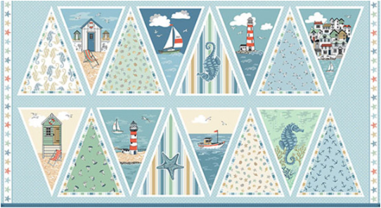 Beachcomber Bunting Panel in Blue 1997