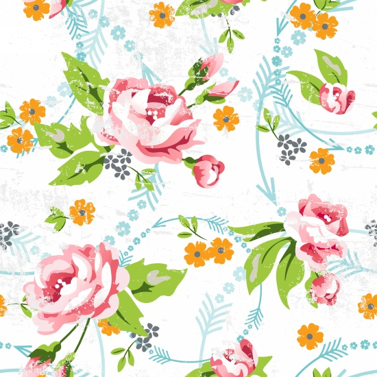 Large Rose Print 9099-01 - Click Image to Close