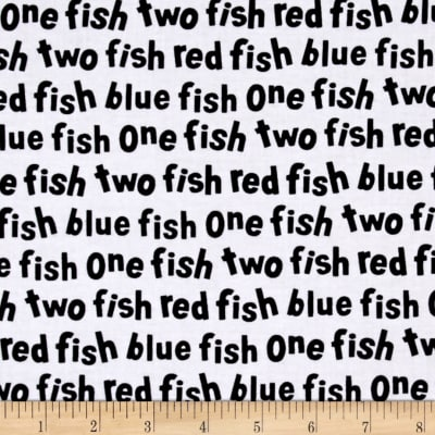 Dr. Seuss One Fish Two Fish Words White 16330