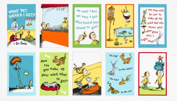 Dr. Seuss What Pet Should I Get Panel 16492 White