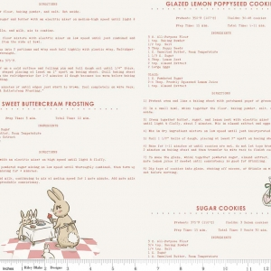 Bunnies Recipes Pink 6024