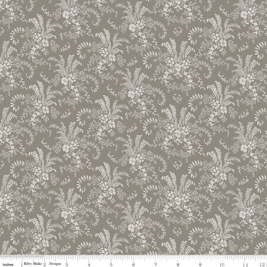 Charming Bouquet Taupe 6654