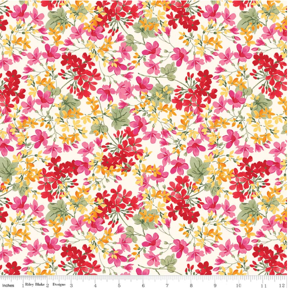Farmhouse Floral Cream Farmhouse Floral