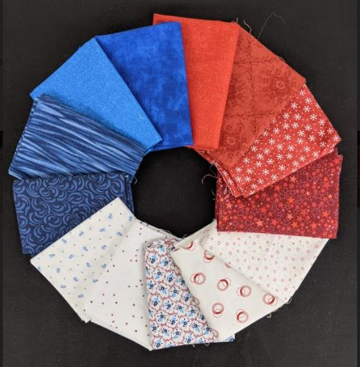Common Colors - Red, White and Blue fat quarter pack