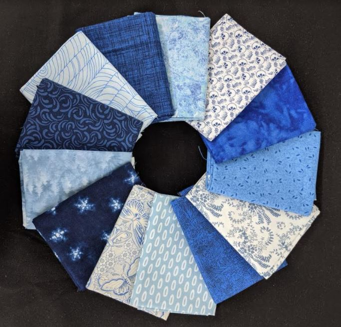 Common Colors - Blue Collection fat quarter pack