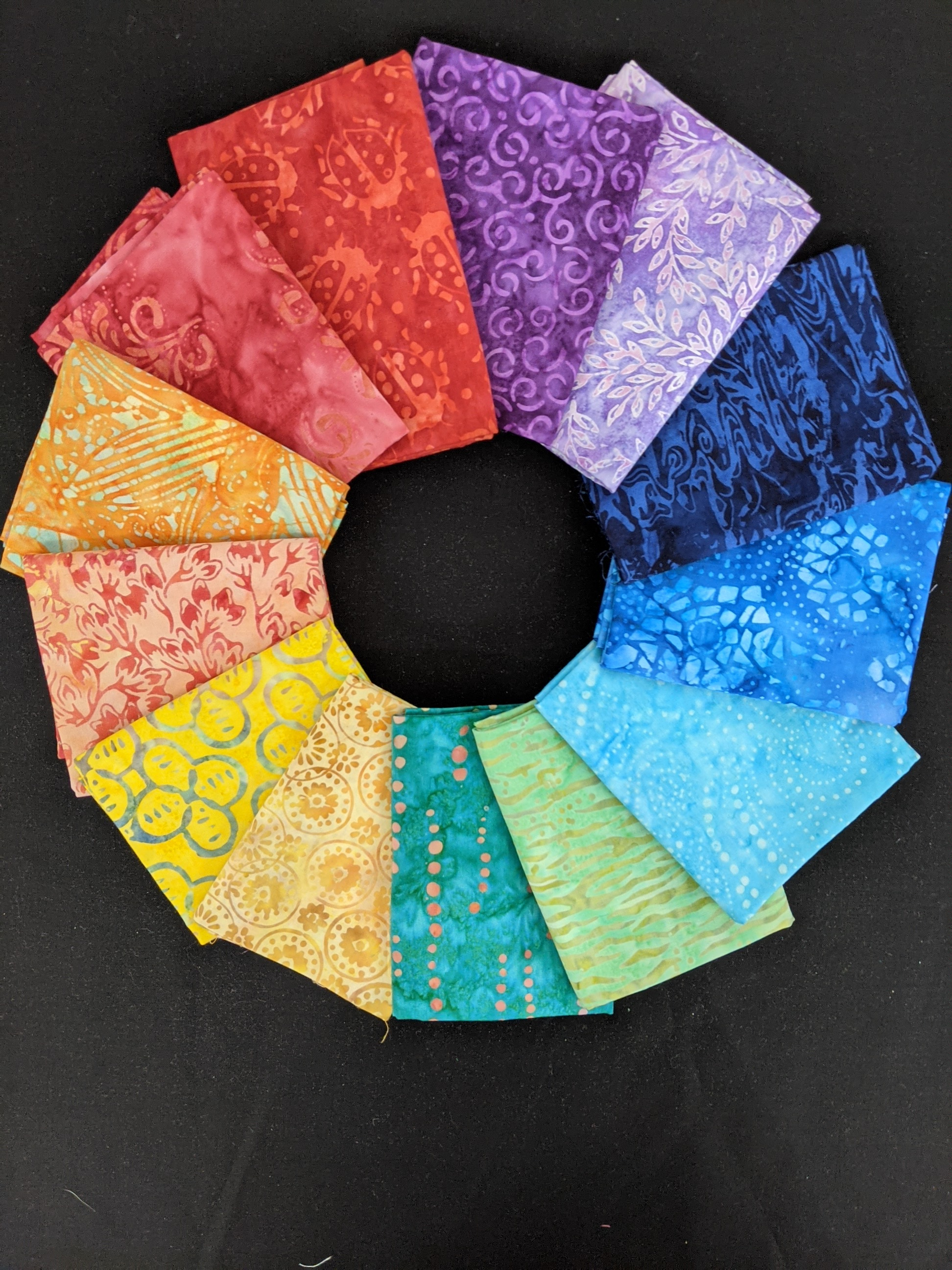 Common Colors - Batik Rainbow fat quarter pack
